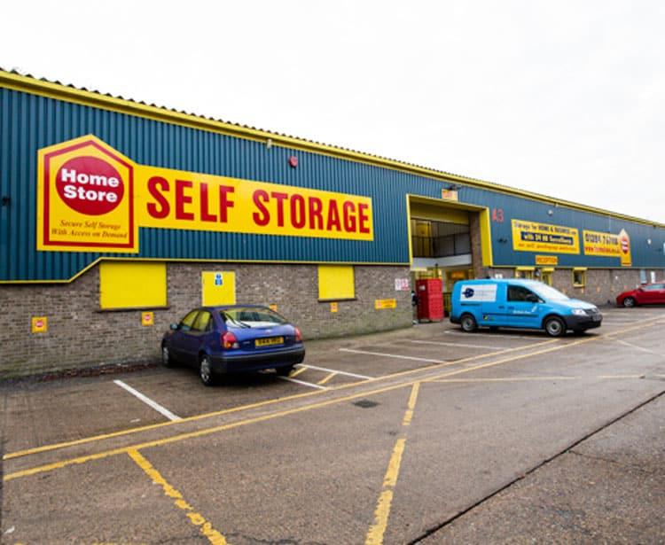HomeStore Self Storage Bury St Edmunds, Suffolk. IP32 6SR 01284 767118