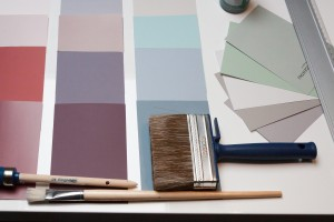 Redecorating swatches and brushes