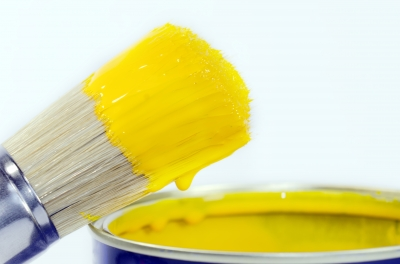 YellowPaintandpaintbrush