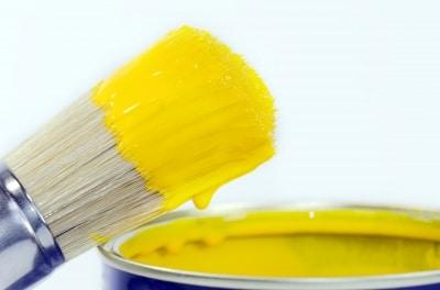 YellowPaintandpaintbrush