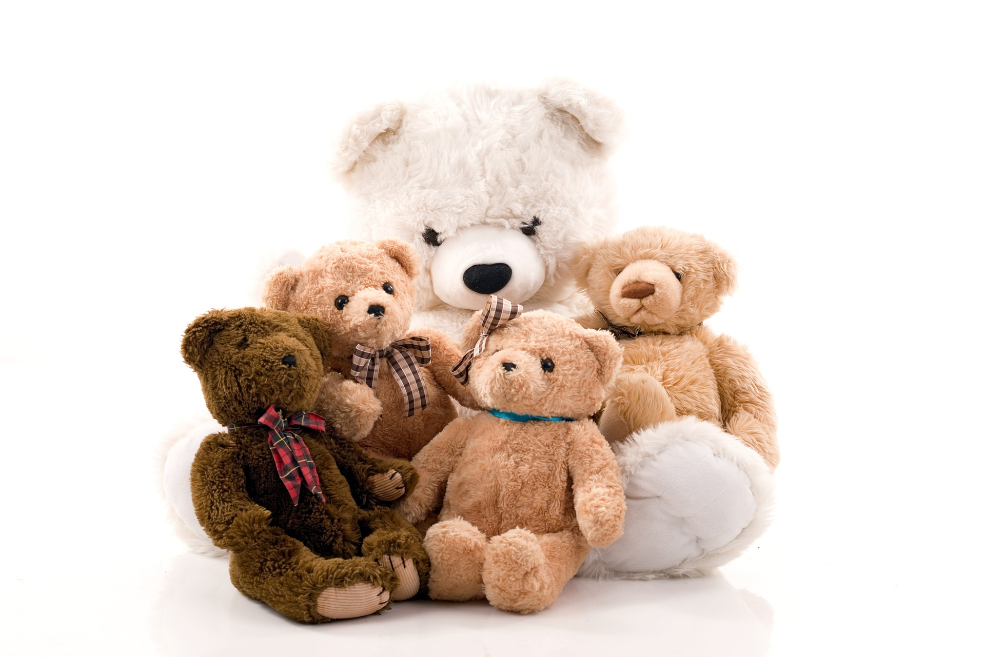 Teddy bears from childhood