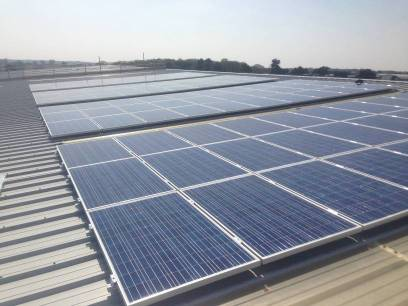 Solar Panel on the roof of HomeStore Self Storage Ipswich