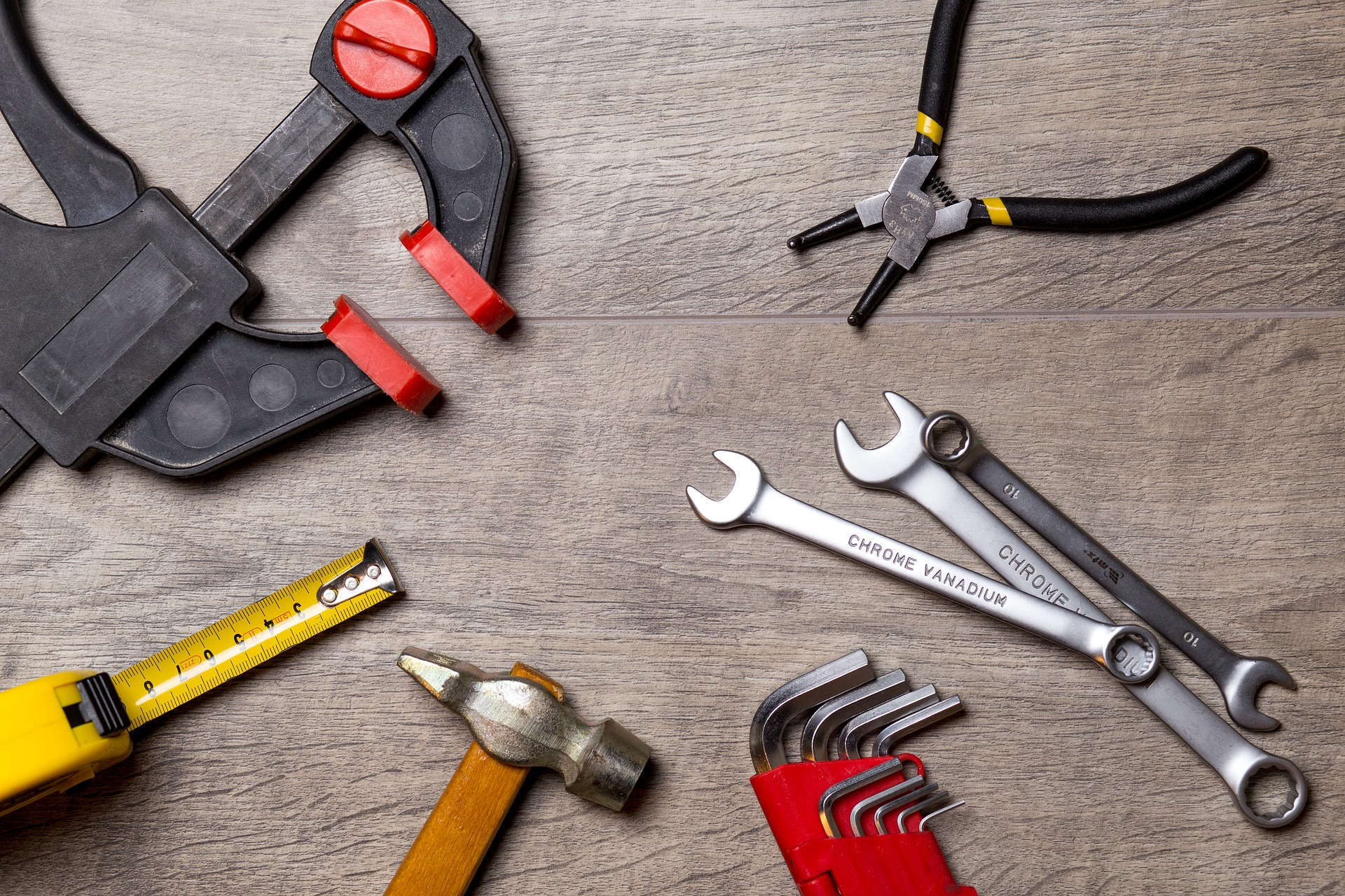 Tools for assembling Christmas presents or furniture items
