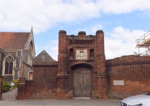 Wolsey's Gate in Ipswich. Picture: SARAH LUCY BROWN Ipswich Star PUBLISHED: 17:42 19 April 2017