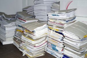 Space needed to store paperwork and archive documents
