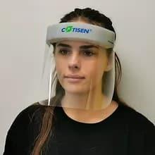 Girl Wearing Face Visor